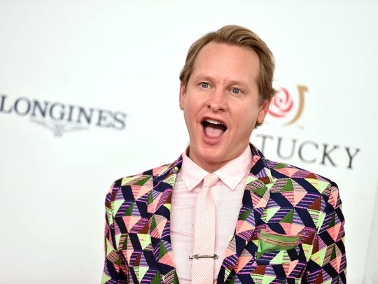 Carson Kressley, the former 'Queer Eye for the Straight Guy' advisor and 'RuPaul's Drag Race' judge, wears a Mr Turk suit to the Kentucky Derby in 2016.