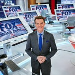 "In this image released by Fox News Channel, chief news anchor and managing editor of the news division Shepard Smith on the FOX News deck in New York. Smith will anchor a special this weekend about the 10th anniversary of Hurricane Katrina. Fox News begins the television remembrances Friday at 10 p.m. EDT with ""Hurricane Katrina, Storm of a Lifetime."" (Fox News Channel via AP)"