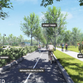 Proposed enhancements, such as wider walks to accommodate outdoor dining and merchant displays, the separated/dedicated bicycle path, and street trees help to create a comfortable, multi-modal environment.