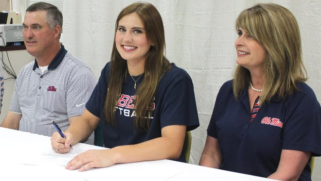 Cedar Creek's Mary Terral signs with Ole Miss.