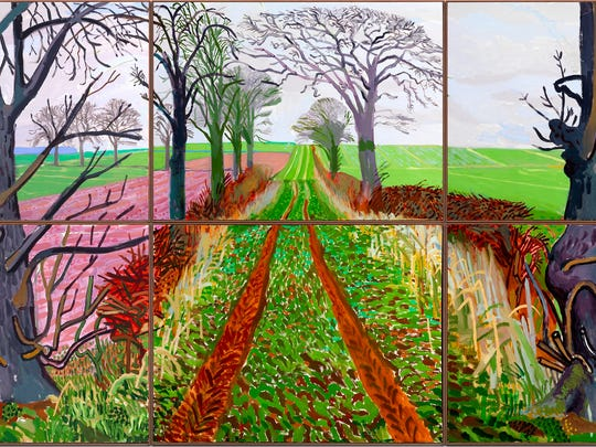"David Hockney's ""A Closer Winter Tunnel, February - March."""
