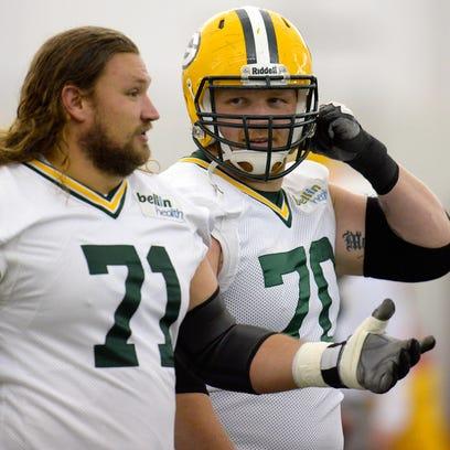 Green Bay Packers offensive linemen Josh Sitton (71)
