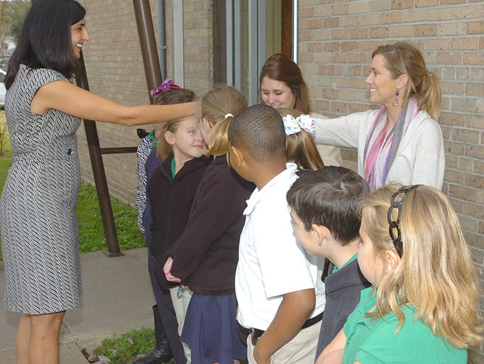 First Lady Visits Eunice Elementary