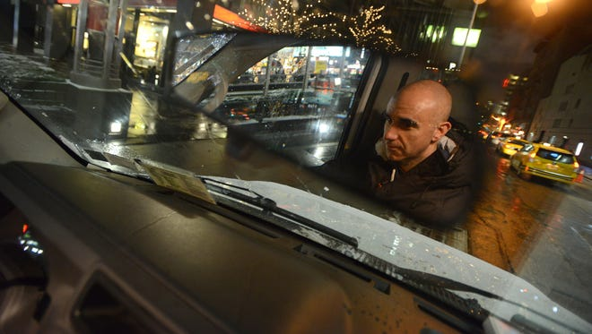 Isaac Simon from Manhattan drives a van and gives out food and clothing to the homeless on behalf of Coalition for the Homeless. He starts out at St. Bart's Church, goes through Times Square to Harlem, to Central Park and ends up back in midtown.