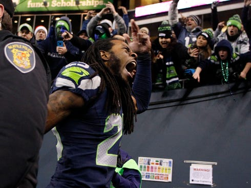 Richard Sherman and the Seahawks are making noise.
