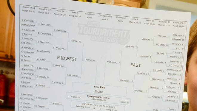 An NCAA men''s basketball bracket