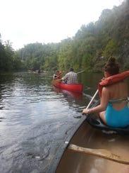 Canoeing in Broken Bow, Oklahoma