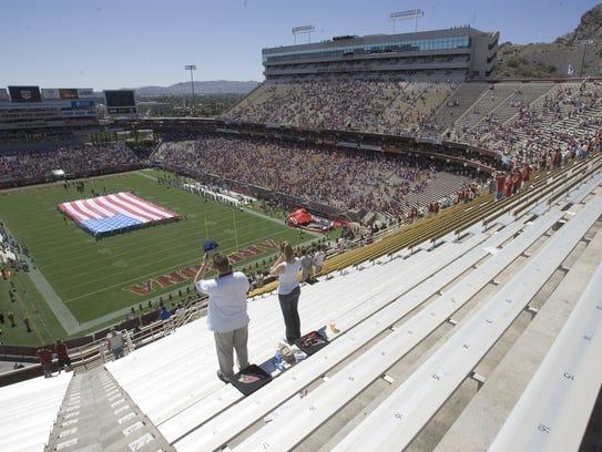 The Arizona Cardinals played at Sun Devil Stadium from
