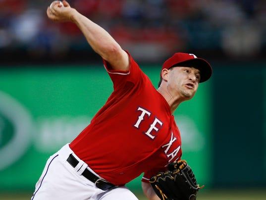 USP MLB_ Los Angeles Angels at Texas Rangers