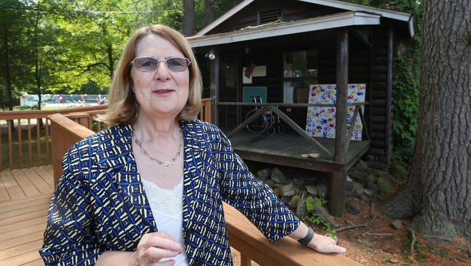 Jill Warner, CEO at Jawonio in New City July 8, 2016. She is at her favorite building there, the original summer camp cabin.