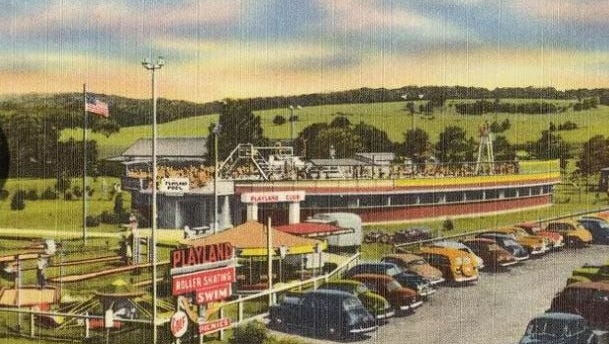 This postcard show the old Playland.