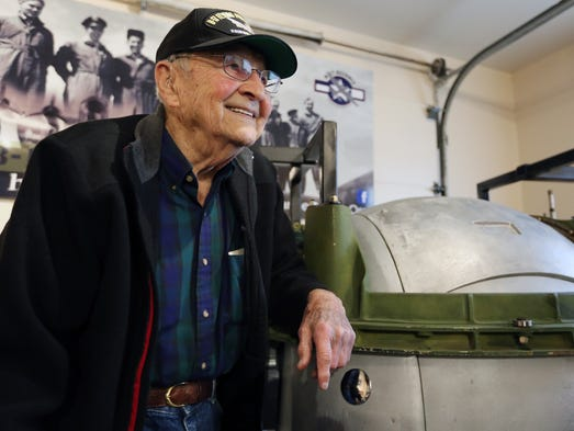World War II veteran Jerry Duran, who served as a ball
