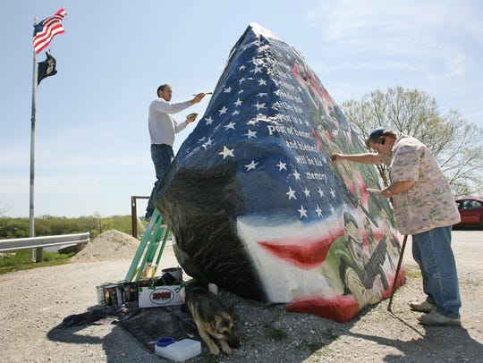 "From 2008: As Ray ""Bubba"" Sorensen II paints Iowa's"