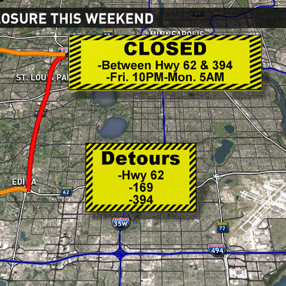 Be prepared for major closures this weekend.