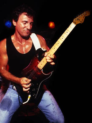 Bruce Springsteen on stage at the Stone Pony in Asbury Park in August 1987.