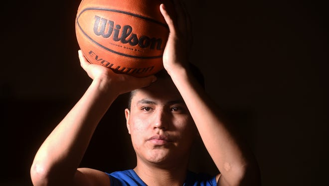 Bloomfield senior Malachi Pablo poses for a portrait on Monday at Bloomfield High School in Bloomfield.