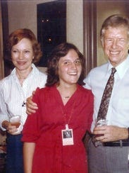 Diane Nine with President Jimmy Carter and First Lady