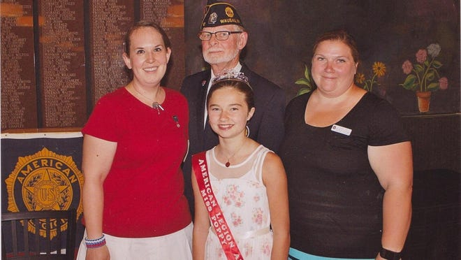 Pictured representing the American Legion family of the Montgomery-Plant-Dudley Post/Unit No. 10 of Wausau is Al Morasch, the newly-elected post commander, Amanda Szalewski, auxiliary unit president, and Autumn Drake-Dabler, auxiliary unit honorary junior president. For the very first time, the auxiliary has an active junior program with elected honorary officers. Sarah Stiff, the eighth district president of the American Legion Auxiliary, shown at right, performed the installation in late June.