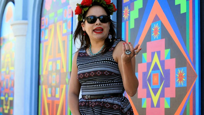 """Chicana artist Mayra V. Zamora will curate """"Chicano America,"""" an upcoming art exhibition bringing together the work of Chicano artists. The exhibit will be on display at La Retama Central Library, 805 Comanche St., Sept. 17 throughOct.28. Artists should email miramayraart@yahoo.com for application, design criteria and selection.Deadline to submit artwork isFriday, Aug.31."""