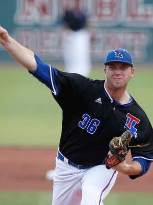 Louisiana Tech pitcher Casey Sutton (36), the ace of the staff in 2016, will resume his normal Saturday role for the Bulldogs in 2017.