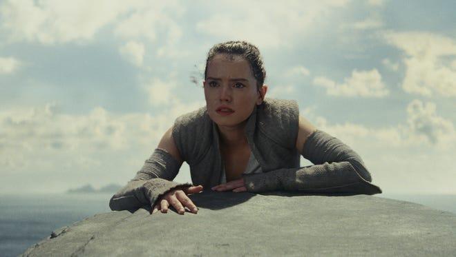 Rey (Daisy Ridley) seeks out Luke Skywalker in 'Star Wars: The Last Jedi' but also separates from her friends.