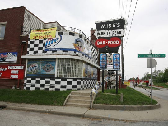 You can't miss Mike's Speedway Lounge, where the kitchen