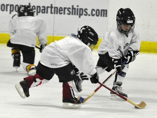 Youngsters participate in the Nashville Predators Get