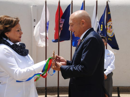 Gov. Susana Martinez participated in the passing of responsibility for the Vietnam Veterans Memorial State Park in Angel Fire to the Department of Veterans Services, an action requested by the state's veteran community.