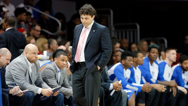 Frank Matrisciano told 92.9 FM that he wasn't surprised that former Memphis head coach Josh Pastner (center) lost a number of Tigers to transfers.