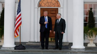 President-elect Donald Trump and James Mattis in Bedminster, N.J., on Nov. 19, 2016.