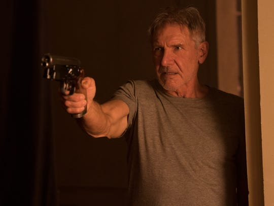 "Harrison Ford reprises his role as Deckard in ""Blade"