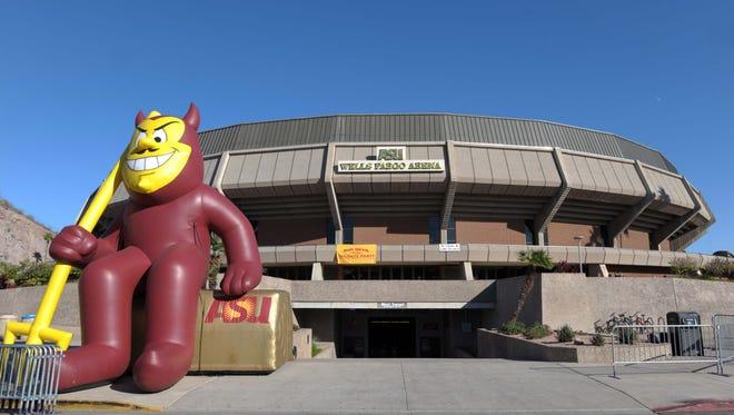 Wells Fargo Arena on the campus of the Arizona State University.