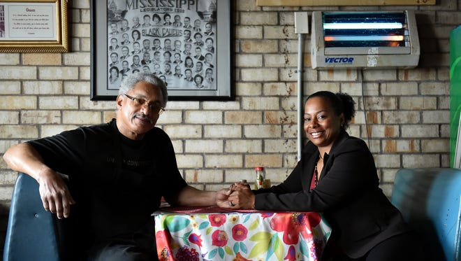 Owners Tyrone and Greta Brown Bully sit inside Bully's restaurant, which was named one of the 2016 America's Classic Award Honorees.