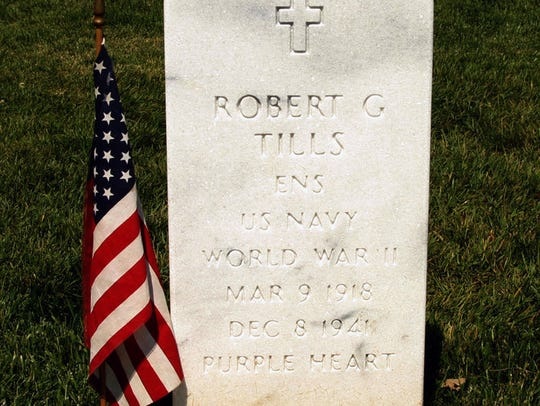 Robert Tills' gravesite at Arlington National Cemetery.
