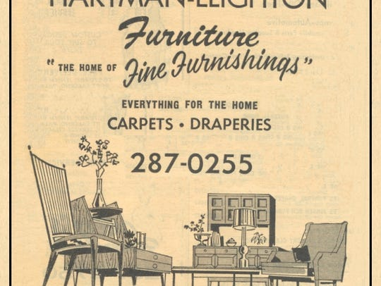 Advertisement for Hartman-Leighton Furniture in 1967.