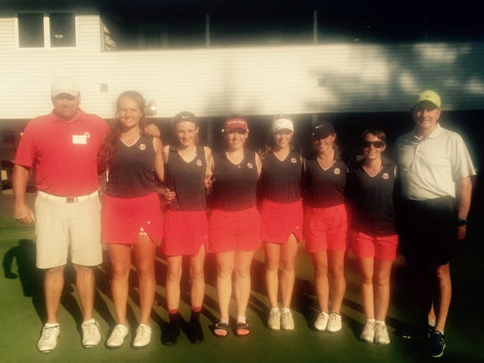 The Shelby Whippets repeated as Division II sectional golf champs Tuesday at Valley View.