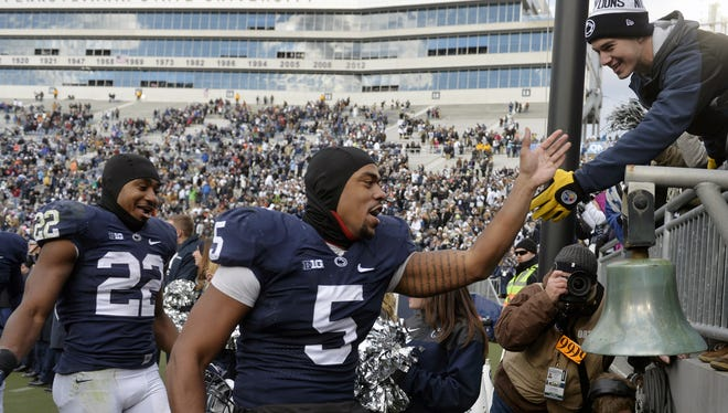 For the second-straight season, Penn State linebacker Nyeem Wartman-White (5) had his season ended by a knee injury.