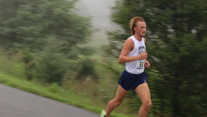Smithsburg's Will Merritt races to victory at the Fred Kaley Memorial 5K in Greencastle. Merritt, 21, completed the race in 15:24 to defeat a talented race field.
