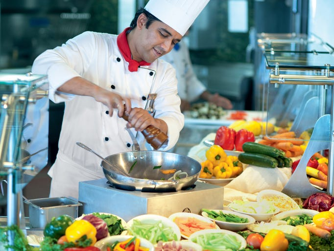 Five myths about cruise ship food for Cruise ship with best food