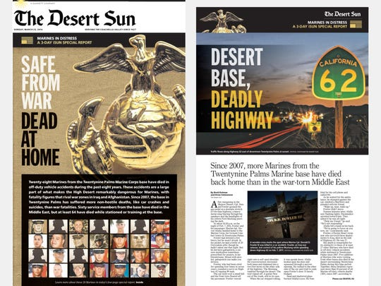 Sunday's front page and special section cover