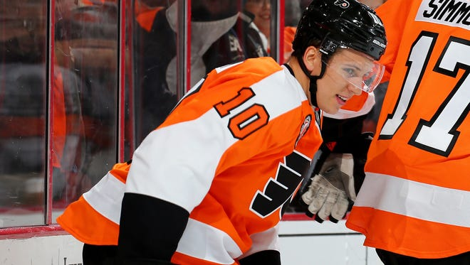 Brayden Schenn has recovered quickly after his head bouncing off the ice Thursday night.