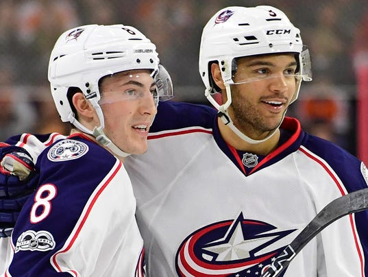 USP NHL: COLUMBUS BLUE JACKETS AT PHILADELPHIA FLY S HKN PHI CBJ USA PA