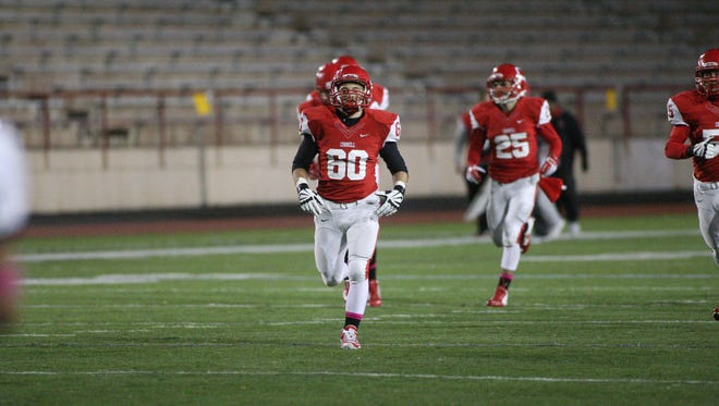 Senior Dan Alexander (60), a Hilton High graduate, earned first-team honors for Cornell University's sprint football team. The famed team plays in a collegiate league with 172-pound weight limit for players. Army and Navy are among the teams.