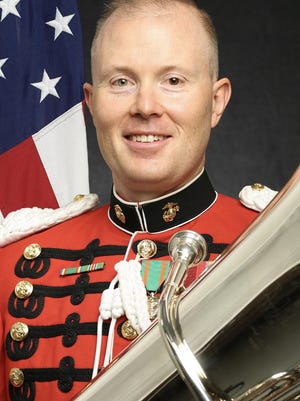 Master Sgt. Franklin Crawford, originally from Cheboygan, recently played during his sixth presidential inauguration ceremony in the nation's capital earlier this month, as part of the United States Marine Corps Bank. Courtesy photo