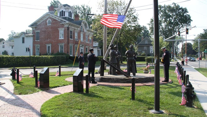 The Brockport Fire Department's 9/11 Memorial on Main Street will be a stop during the 2016 Michele's Ride to Remember bicycle tour. Founder Michele Walsh Myers was a student at the College at Brockport on September 11, 2001.