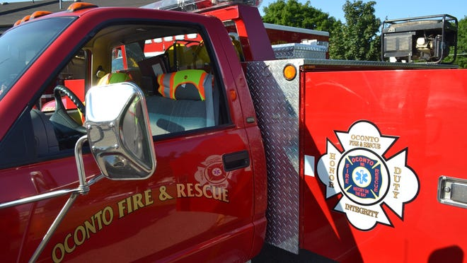 Oconto Fire and Rescue Department truck.