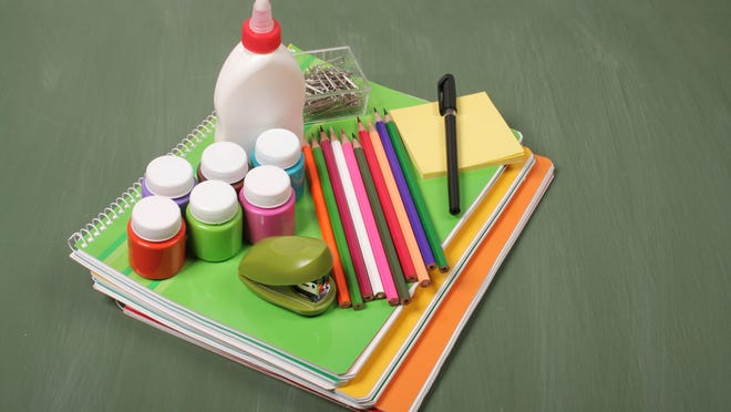 School Supplies on a green blackboardSome other related images: