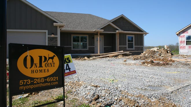 A home under construction in the Vineyards subdvision east of Columbia was one of many homes currently on the market.