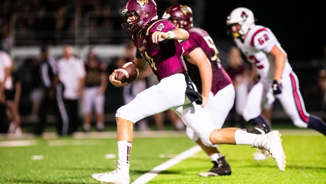 Junior Jake Hermes is in a battle to be the starting quarterback after serving as the backup for the Bearcats, who made the second round of the playoffs last season.