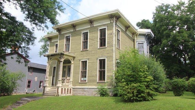 This home at 43 Grover Street in Auburn, NY was once owned by the mayor, back in the 1800s. It is now on the market for $70,000, but there is an offer pending.